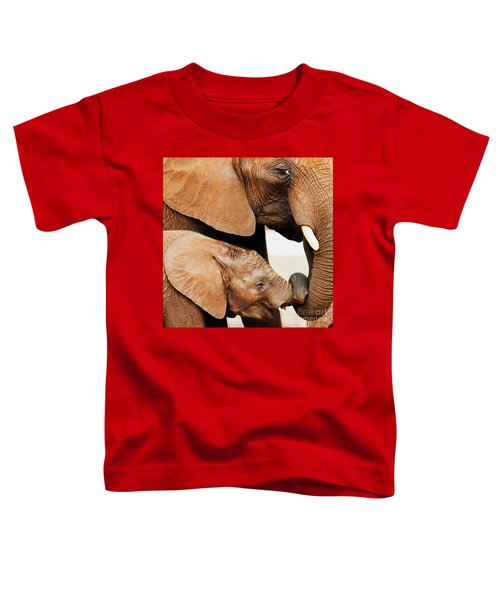 Elephant Calf And Mother Close Together Toddler T-Shirt