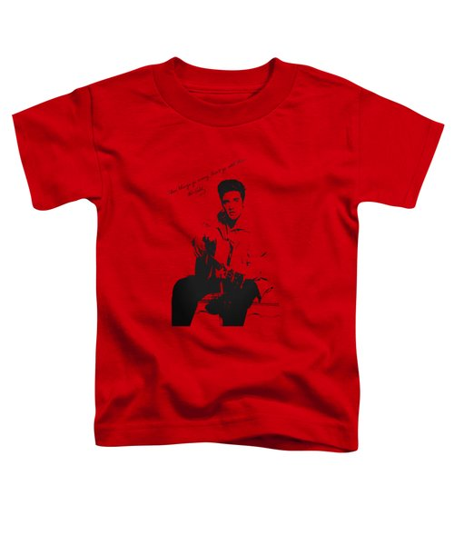 Elvis Presley - When Things Go Wrong Toddler T-Shirt by Serge Averbukh