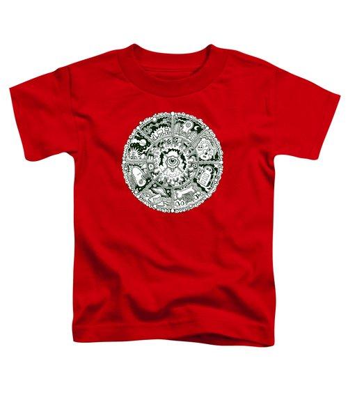 Eye Mandala Black And White Toddler T-Shirt