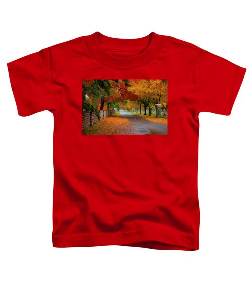 Fall In The Cemetery Toddler T-Shirt