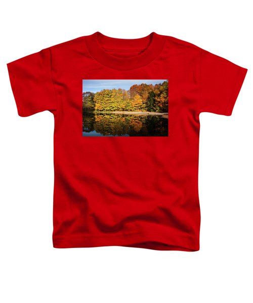 Fall Ontario Forest Reflecting In Pond  Toddler T-Shirt