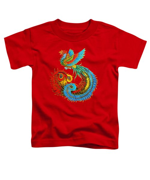 Fenghuang Chinese Phoenix Toddler T-Shirt by Rebecca Wang