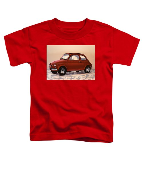 Fiat 500 1957 Painting Toddler T-Shirt