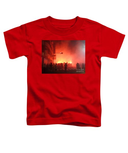 Fireworks During A Temple Procession Toddler T-Shirt