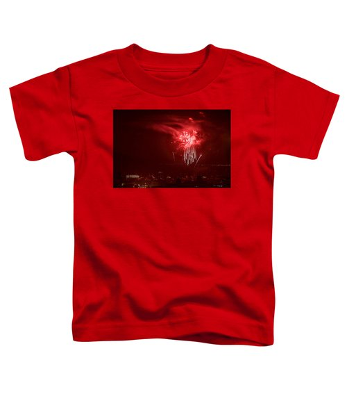 Fireworks In Red And White Toddler T-Shirt