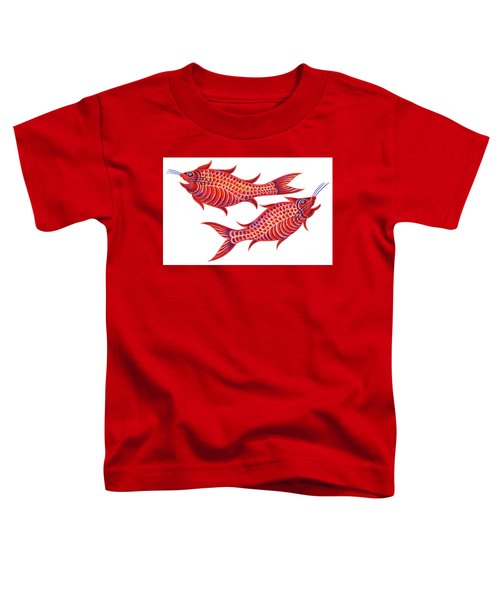Fish Pisces Toddler T-Shirt by Jane Tattersfield