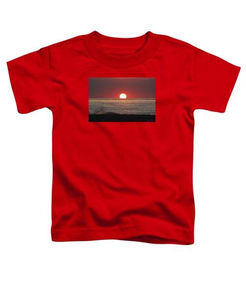 Fishing Boat Sunrise Toddler T-Shirt