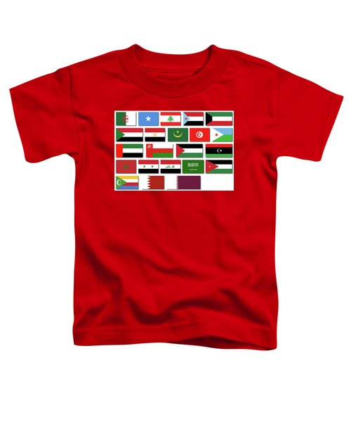 Flags Of The Arab League Toddler T-Shirt