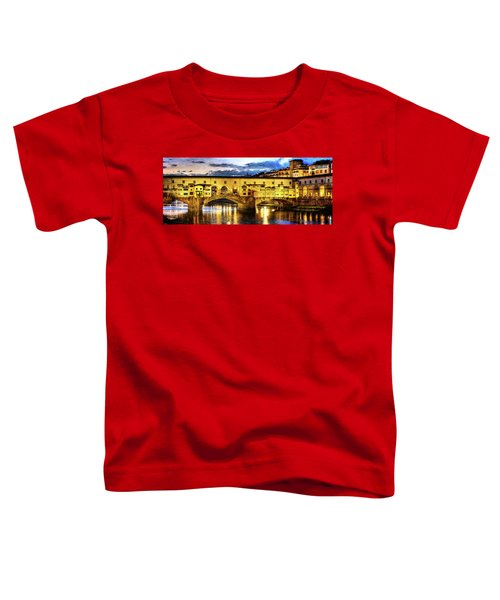 Florence - Ponte Vecchio Sunset From The Oltrarno - Vintage Version Toddler T-Shirt