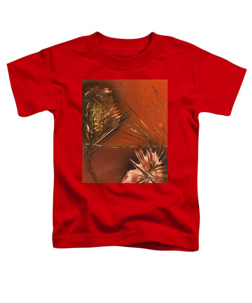 Flower Abstract In Orange And Brown Toddler T-Shirt