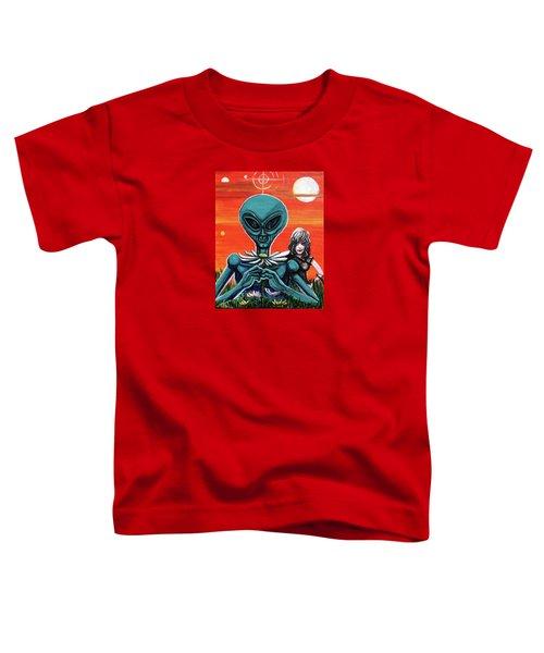 Flower. Alien. Moon Toddler T-Shirt