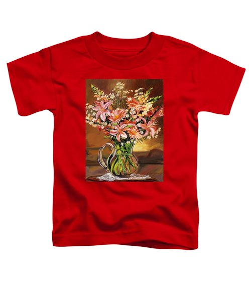 Flowers In Glass Toddler T-Shirt