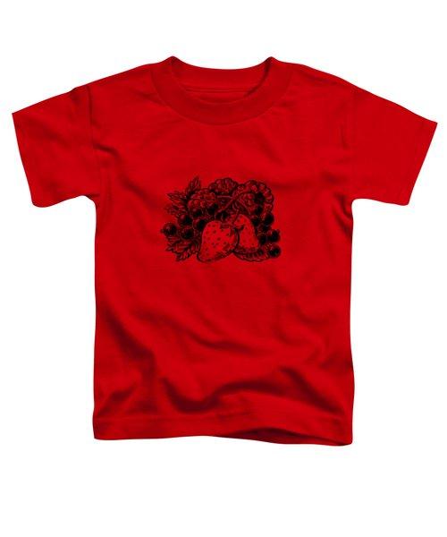 Forest Berries Toddler T-Shirt by Irina Sztukowski