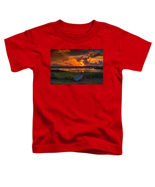 Gloucester Harbor Sunset Toddler T-Shirt