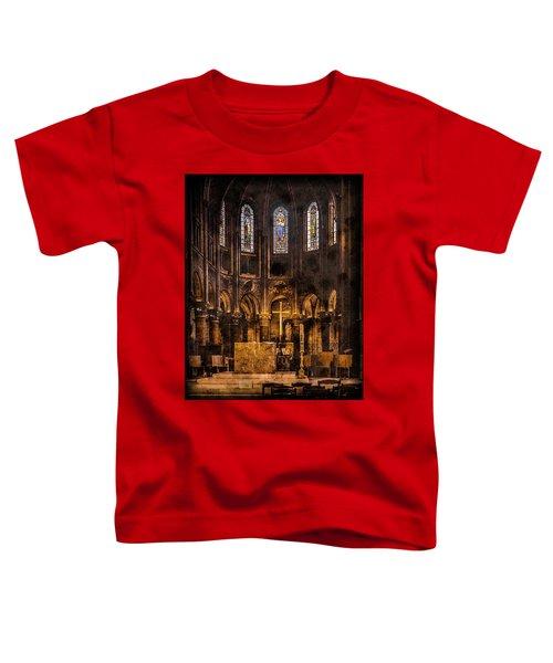 Paris, France - Gold Cross - St Germain Des Pres Toddler T-Shirt