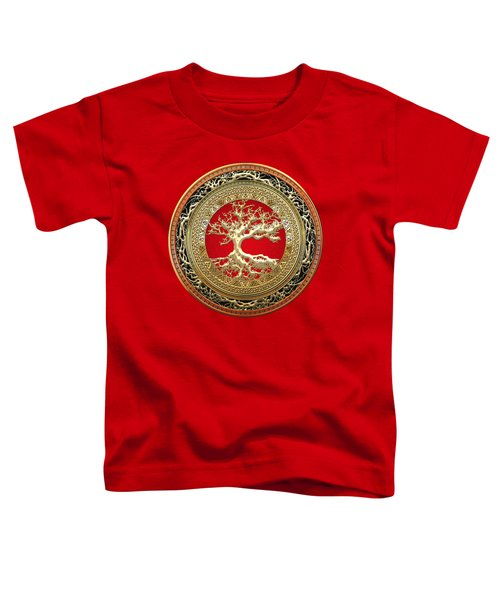 Golden Celtic Tree Of Life  Toddler T-Shirt