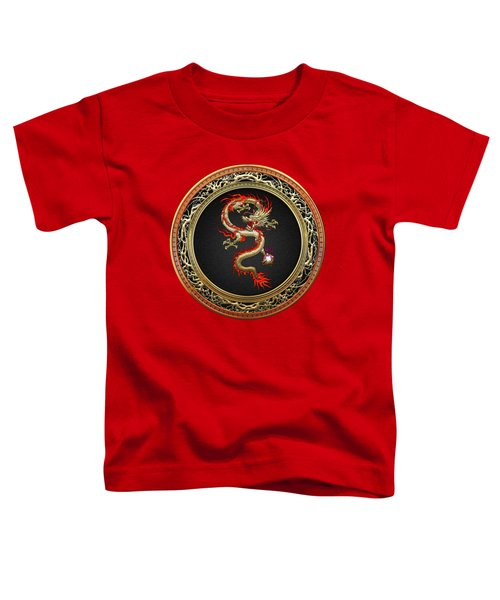 Golden Chinese Dragon Fucanglong Toddler T-Shirt