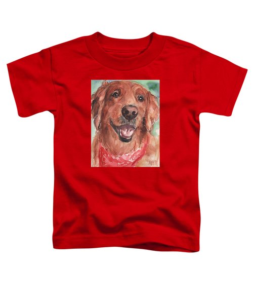 Golden Retriever Dog In Watercolori Toddler T-Shirt by Maria's Watercolor