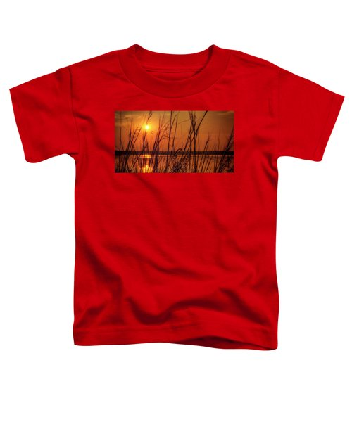 Golden Sunset At The Lake Toddler T-Shirt