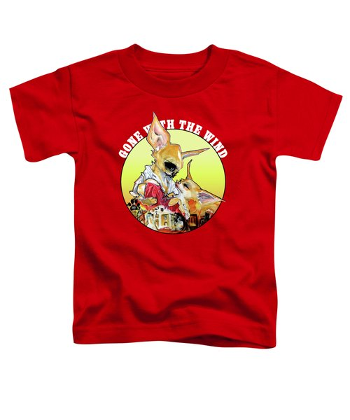 Gone With The Wind Chihuahuas Caricature Art Print Toddler T-Shirt