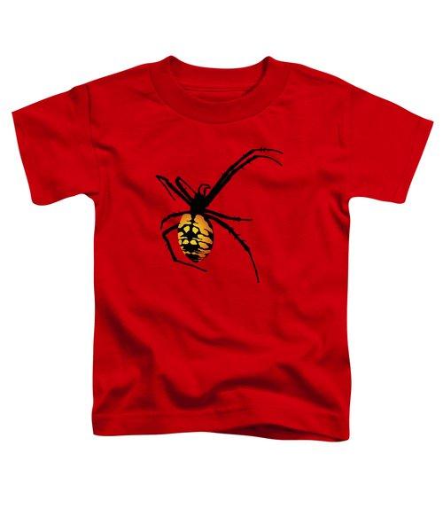 Graphic Spider Black And Yellow Orange Toddler T-Shirt