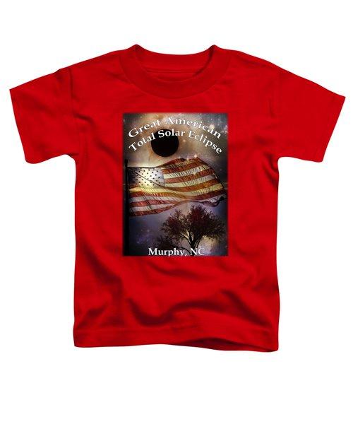Great American Eclipse American Flag T Shirt Art Toddler T-Shirt