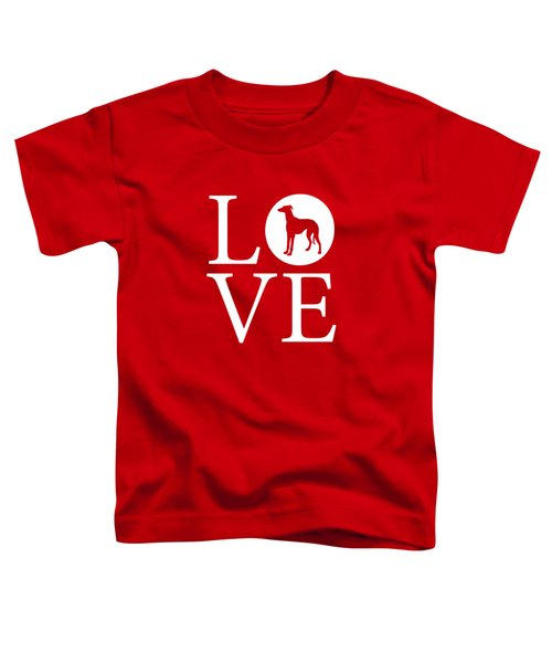 Greyhound Love Red Toddler T-Shirt