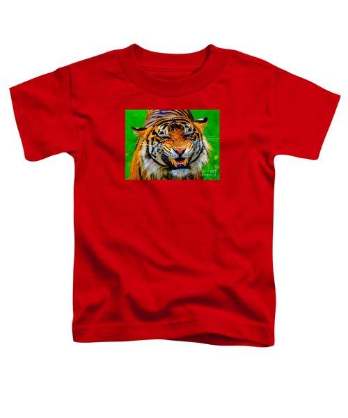 Growling Tiger Toddler T-Shirt