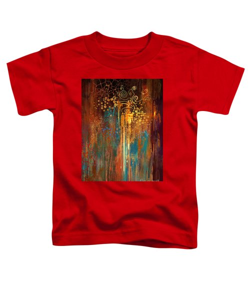 Toddler T-Shirt featuring the painting Growth by Tithi Luadthong