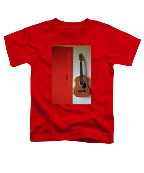 Guitar And Red Door Toddler T-Shirt