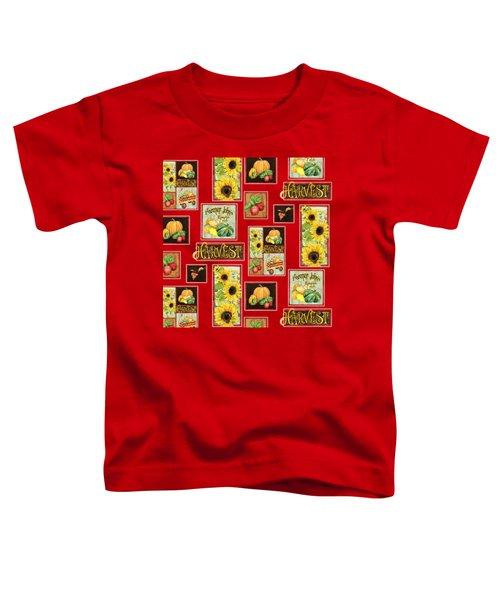 Harvest Market Pumpkins Sunflowers N Red Wagon Toddler T-Shirt