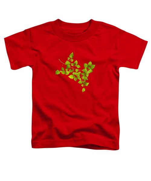 Toddler T-Shirt featuring the mixed media Hawthorn Pressed Leaf Art by Christina Rollo