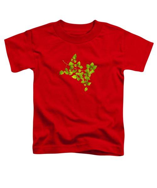 Hawthorn Pressed Leaf Art Toddler T-Shirt