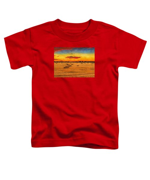 Toddler T-Shirt featuring the photograph Hay Fields by Greg Norrell