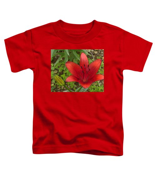 Hazelle's Red Lily Toddler T-Shirt