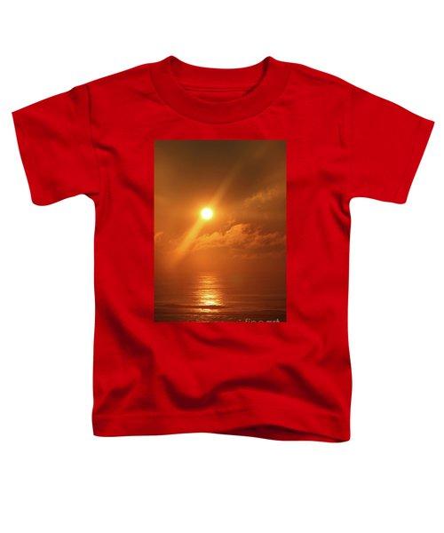 Hazy Orange Sunrise On The Jersey Shore Toddler T-Shirt