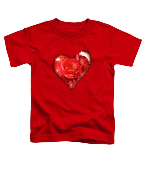Heart Of A Rose - Red Toddler T-Shirt