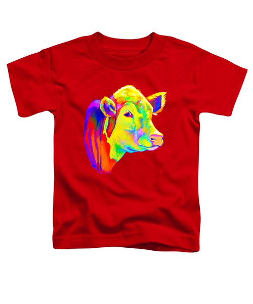 Hereford Cow In Colors Toddler T-Shirt