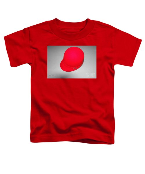 Hints Of Red - Hat Toddler T-Shirt