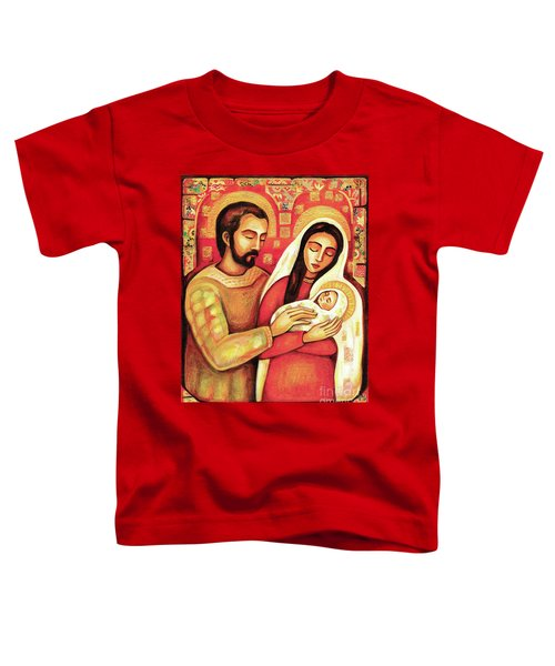 Toddler T-Shirt featuring the painting Holy Family by Eva Campbell