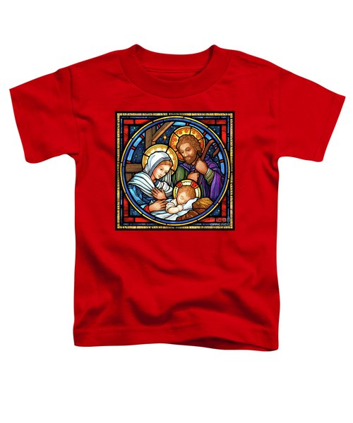 Holy Family Stained Glass Toddler T-Shirt