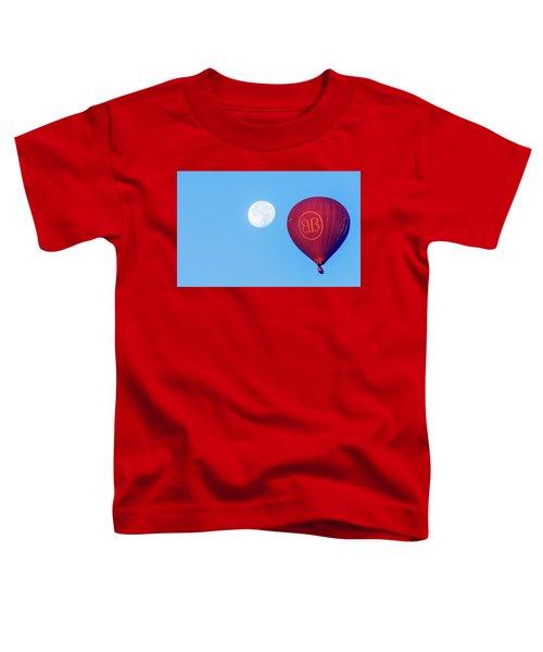 Hot Air Balloon And Moon Toddler T-Shirt