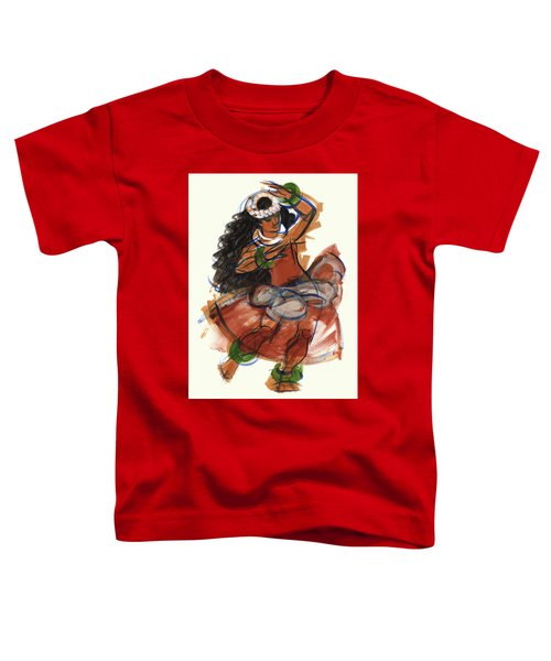 Toddler T-Shirt featuring the painting Hula Puna by Judith Kunzle