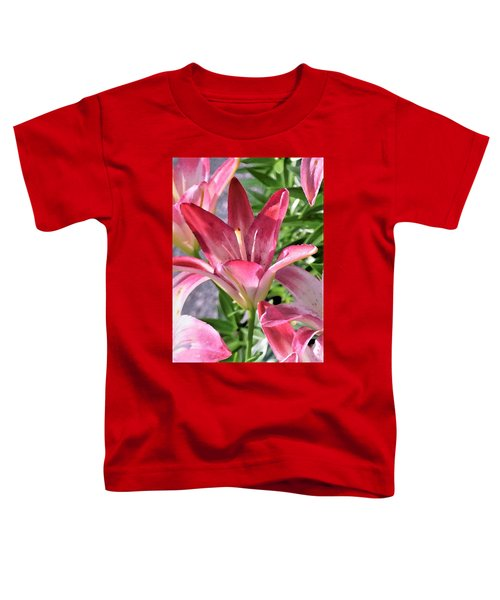 Exquisite Pink Lilies Toddler T-Shirt