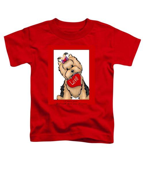 I Love You Toddler T-Shirt