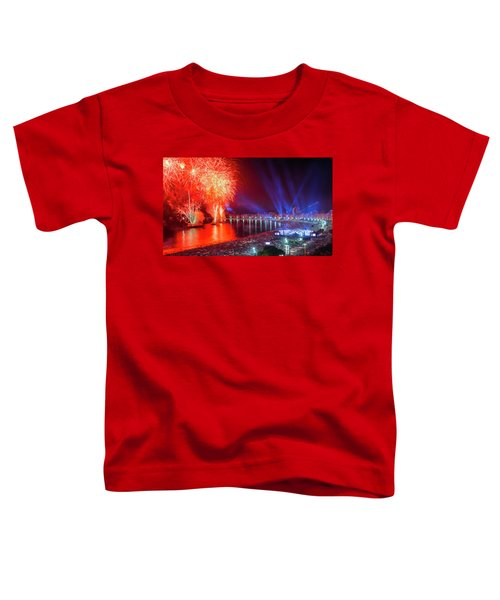 Iconic And Breath-taking Fireworks Display On Copacabana Beach,  Toddler T-Shirt