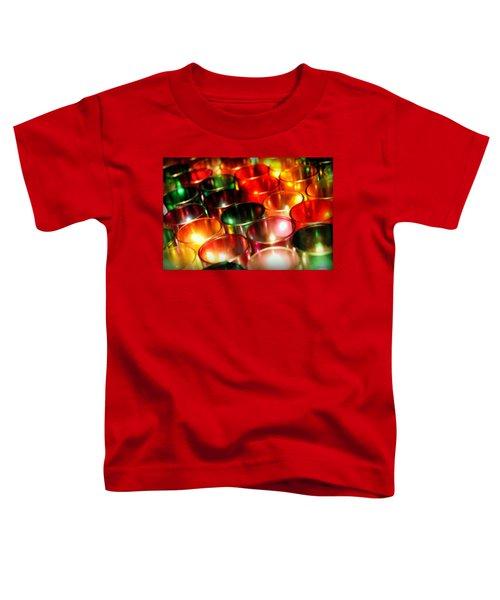 Toddler T-Shirt featuring the photograph Illuminated Prayers by Andrea Platt