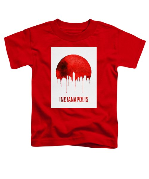 Indianapolis Skyline Red Toddler T-Shirt