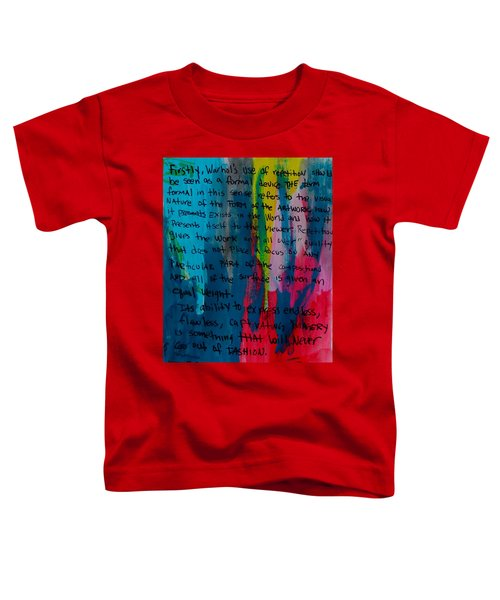 Inspiration From Warhol Toddler T-Shirt