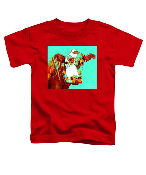 Turquoise Cow Toddler T-Shirt